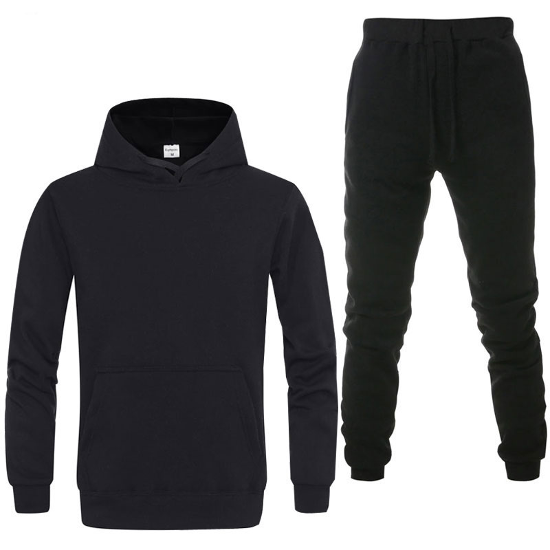 2019 Spring Sporting Suits Men Hip Hop Hooded Hoodies + Pants Tracksuits Autumn Casual Mens Sportswear Sets