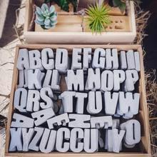 Alfabe dekoratif beton kalıpları silikon alçı kalıp 3D sermaye İngilizce harfler çimento kalıp için MAaking mum pişirme epoksi
