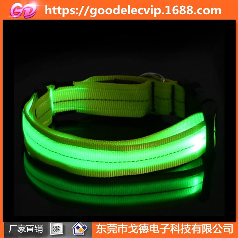 New Style Reflective Yarn Pet Collar LED Shining Night Anti Lost Anti-Car Accident USB Charging Glowing Dog Collar