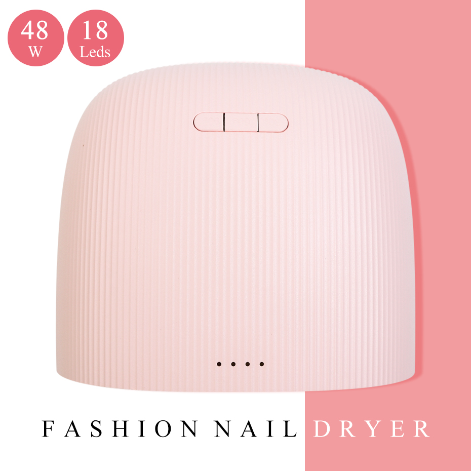 48W Professional UV Lamp LED Sunlight Nail Dryer Lamp Fast Curing For All Gel Polish Nail Art Tool Smart Timing Equipment BE1504