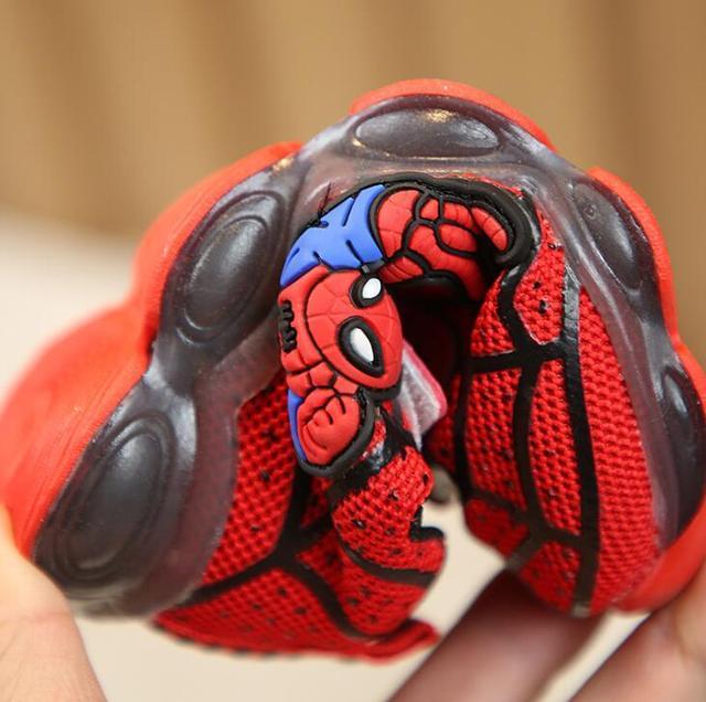 Luminous Spiderman Kids Shoes for boys girls 6