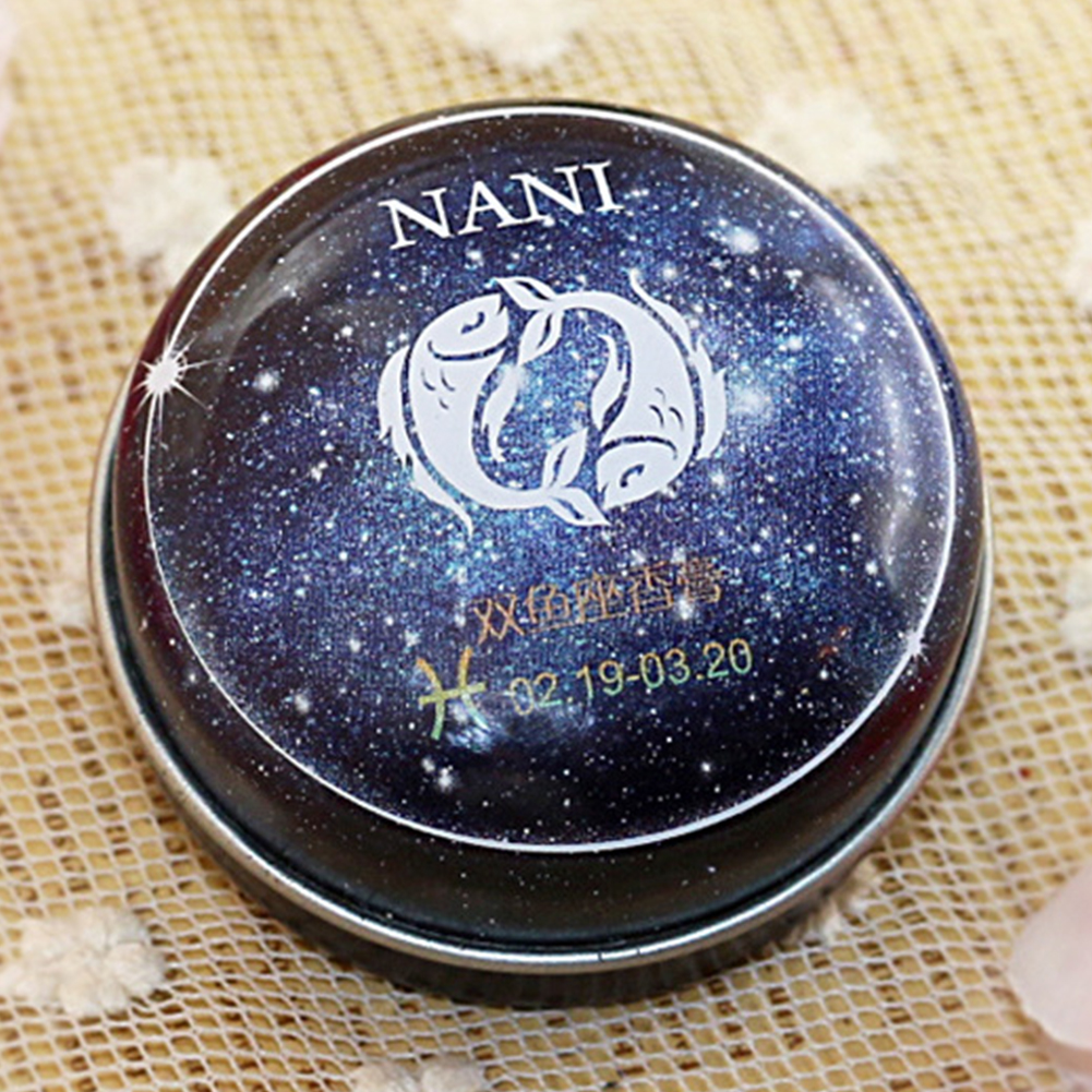 Solid Perfume Portable Skin Care Long-lasting Women Men 12 Signs Charm Essential Oil Body Romantic Deodorant Non-alcoholic Balm