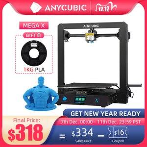 Image 1 - Anycubic 3D Máy In Mega X 300*300*305Mm Máy In Mega X In Lớn Kích Thước MeanwellPower Cung Cấp 3d Impressora