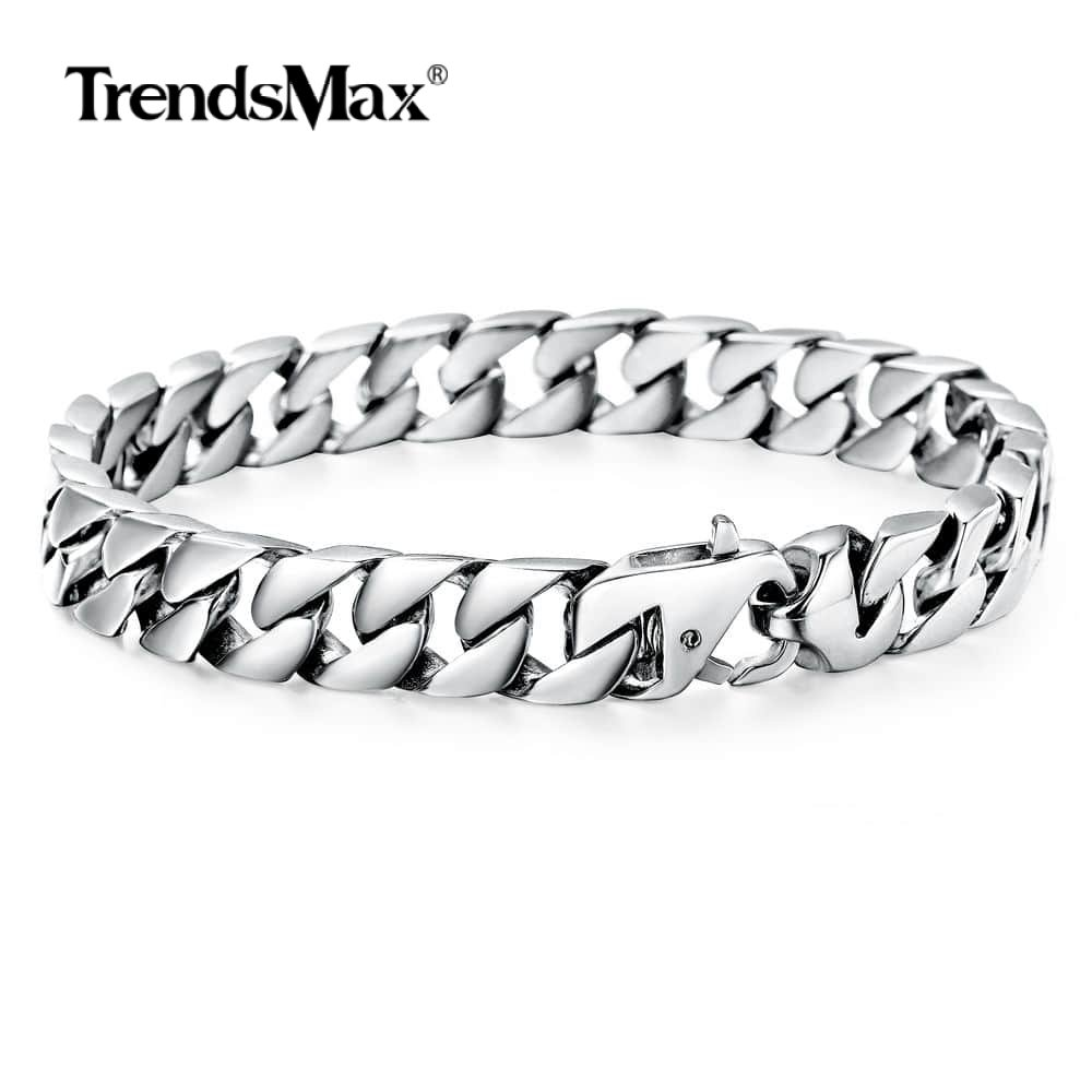 Chain Link Bracelet For Mens Boys 316l