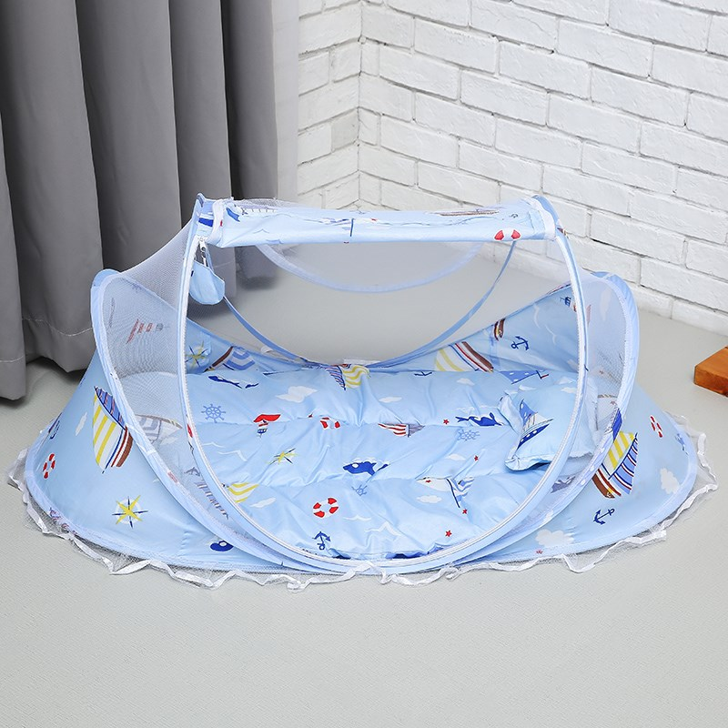 Portable Baby Netting Bedding Crib Mat Pad Cover Foldable Baby Mosquito Nets Tent Bed Mattress Pillow Suit For 0-2 Years