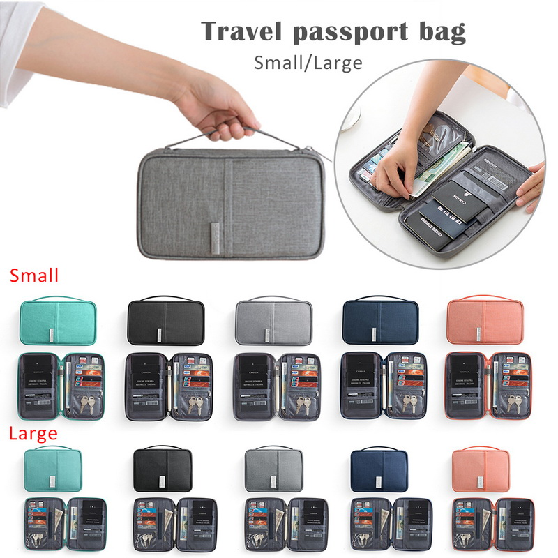 Puimentiua Travel Passport Bag Holder Document Case Waterproof Card Package ID Credit Card Holder Organizer Travel accessories