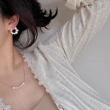 MENGJIQIAO-Gargantilla de perlas simulada elegante para mujer y niña, joyería para fiesta, cadena de boda, collar, joyas