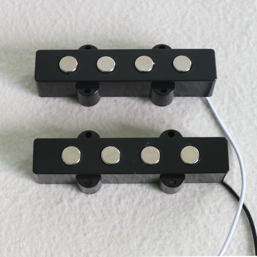 Quality Bass Parts 1Set 9mm Pole Piece Ceramic Magnet 4 String J Bass Pickup