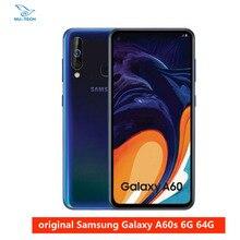 هاتف سامسونج جلاكسي A60 6GB 64G NFC 6.3 بوصة شاشة عرض كاملة سنابدراجون 675 ثماني النواة 6GB 3500mAh 32MP كامير الهواتف الخلوية