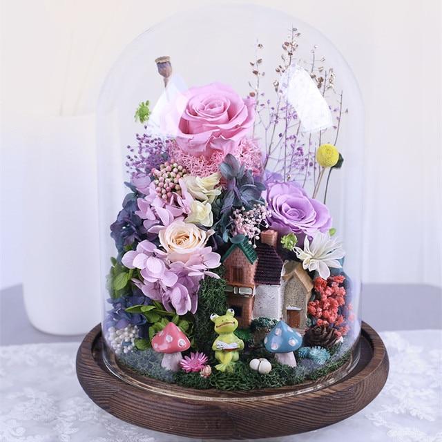 20*30cm Antique Base verre dôme Vase diamètre = 20cm hauteur = 30cm verre couverture Vase ami cadeau maison décoration de mariage