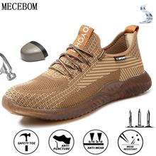 Light Mew-Sneakers Work-Boots Safety-Shoes Puncture-Proof Steel Indestructible Men's