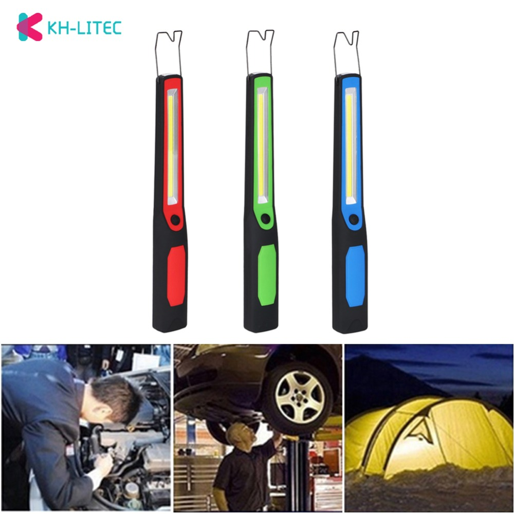 LED Working Light USB Rechargeable Torch Car COB Magnetic Repair Emergency Lamp Portable Camping Lanterna Hanging Hook Lamp