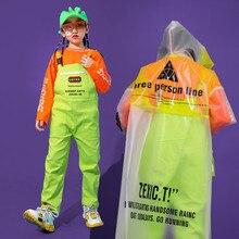 子供ヒップホップの服カジュアルはルーズよだれかけパンツジャズダンス衣装社交ダンスの服着用