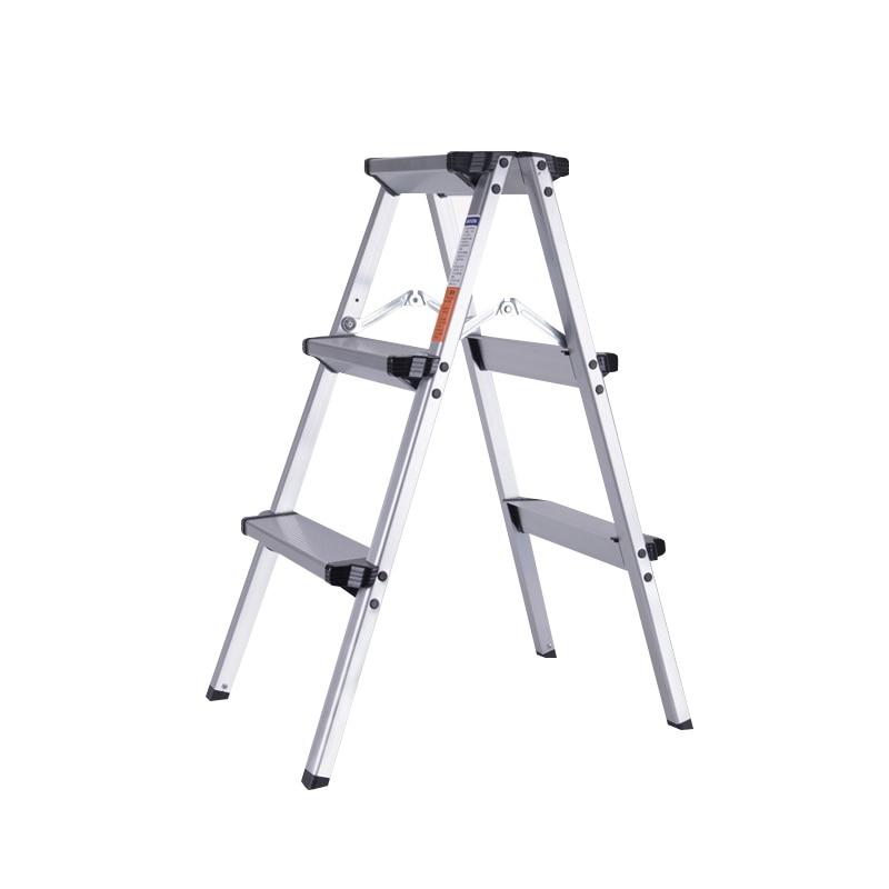 Chair Outdoor Retractable Aluminum Herringbone Ladder Multi Purpose Home Engineering Ladder CE EN131 Chair Folding Step Stool