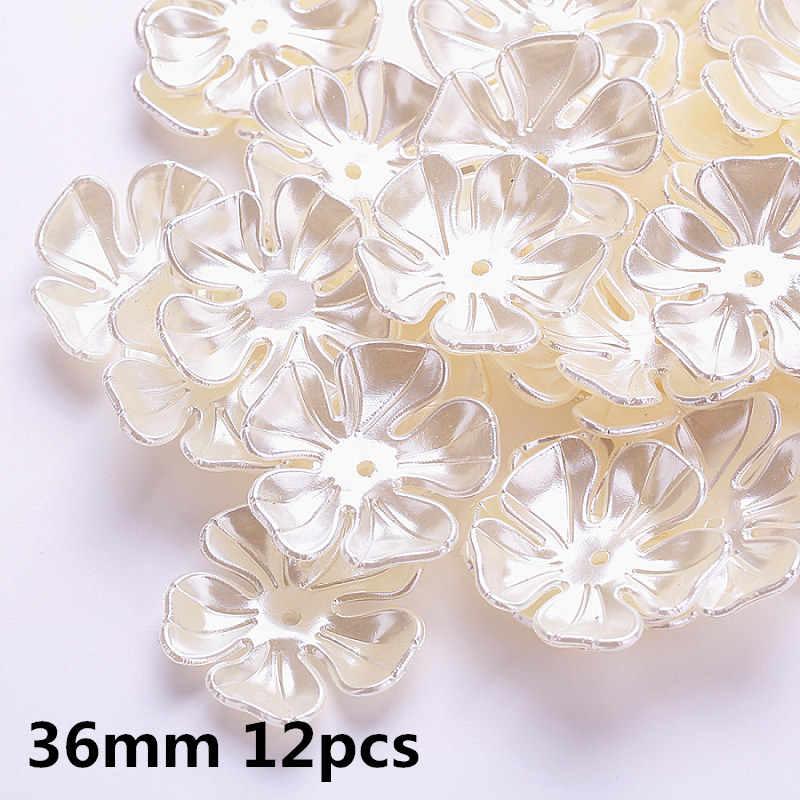 Ngà/Trắng Nhiều Thiết Kế ABS Đính Hạt Ngọc Trai Mũ Giả Hoa Nhựa Hạt Cho Hoa Tiếp Nhận DIY Cách Nhau Trang Sức