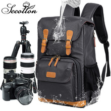 CamDress Waterproof Canvas photo backpack shock absorption camera backpack national geographic bag breathable kamera рюкзак рюкзак rapala waterproof backpack