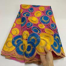 Новое поступление, швейцарская вуаль, кружево в Швейцарии, высокое качество, африканская сухая кружевная ткань 100%, хлопковое кружево с отве...