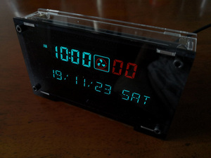 Image 3 - 12 / 24 hour High Precision VFD clock Electronic time RX8025T VFD display Hour / minute / second /day / week LED Uhr