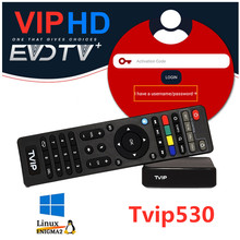 Arab Evdtv IPTV TVIP530 Smart Linux Set Top TV Box Timur Tengah Arab Israel Mesir Eropa Latino Brazil Amerika Tvip 530 415 410(China)
