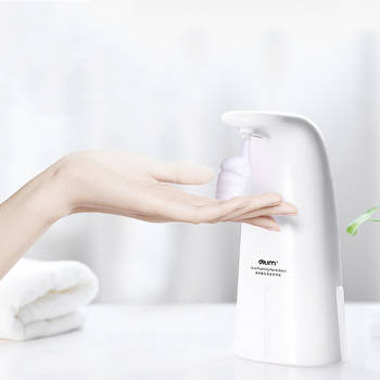 250ML Intelligent Automatic Liquid Soap Dispenser Induction Foaming Hand Washing Device for Kitchen Bathroom (Without Liquid) intelligent 250ml liquid soap dispenser automatic contactless induction foam infrared sensor hand washing device
