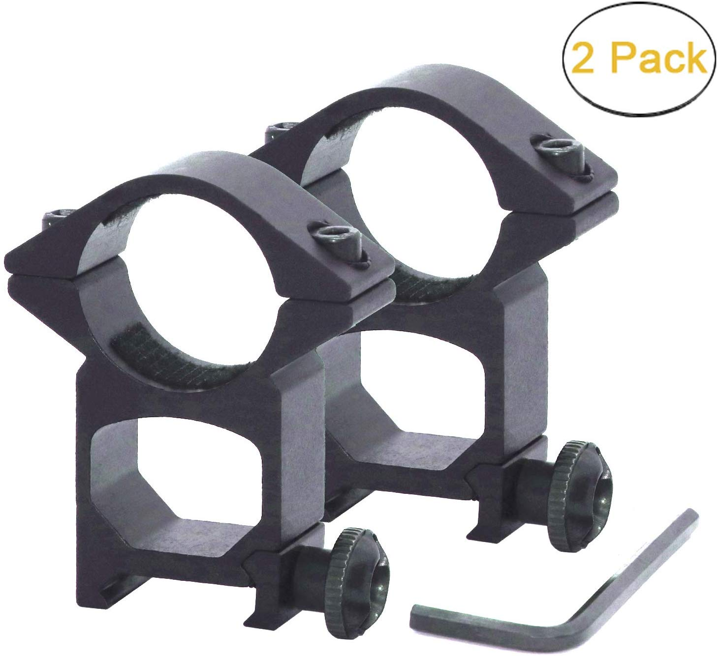 2 Pcs Rifle Hunting Scope Ring Mounts 1inch High Profile Scope Mounts Rings For Picatinny Weaver Rail
