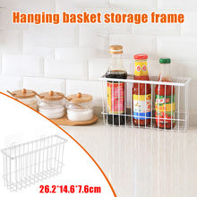 Self-Adhesion Kitchen Bathroom Iron Wire Basket Bin Storage Rack Mesh Organizer(China)