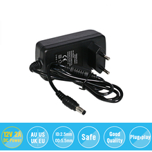 Power Supply Adapter AC 100-240V to DC 12V 2A Charger Converter EU UK US AU 5.5*2.5mm Plug For LED Light/LCD Monitor/CCTV Camera uxcell us plug dc 12v 8a 96w male 2 1x5 5mm transformers power supply adapter to led lights wireless router lcd hub cctv cameras