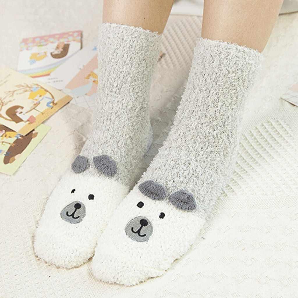 Nữ Ống Hoạt Hình Nhung San Hô Tầng Tất Ấm Giấc Ngủ Nam Thông Thoáng Tất Cotton Cho Nữ Xuân Hè Thương Hiệu Casual sock
