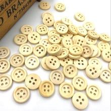Wholesale 50PCS New 4 hole Round Wood Buttons 15mm Sewing Craft WA105