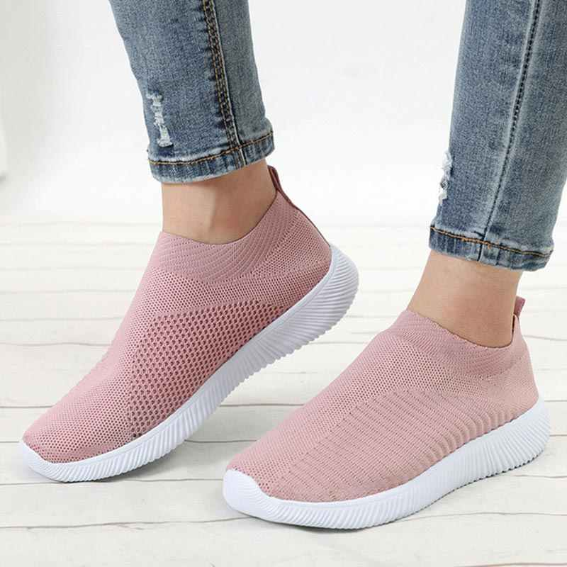 women shoes Women Flats Sock Shoes Women Sneakers Nurse Tenis Feminino Women's Loafers Ballerina Flats Vulcanize Shoes Creepers
