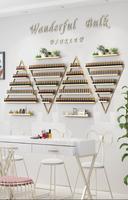 Iron art nail rack, nail polish shelf, wall hanging wall triangle shelf.