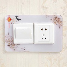 Acrylic switch protector double open decorative cover simple modern Chinese home bedroom living room