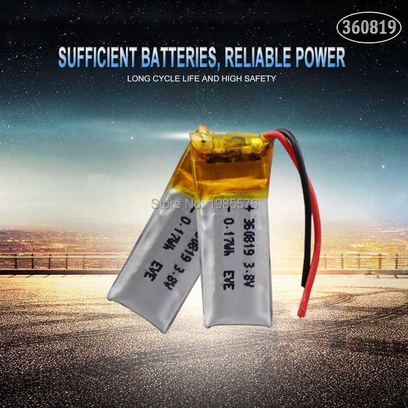 3.7V 重合リチウム電池 360819 50 2600MAH Bluetooth ヘッドセット MP3 MP4 Bluetooth 小さなおもちゃサウンド充電式リチウムイオン電池