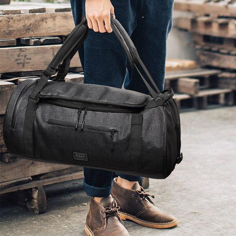 Gran capacidad, bolsa de entrenamiento deportivo para gimnasio para hombre, 56x28x28 cm, bolsas de Yoga para mujer, mochilas para ordenador portátil, bolsa de viaje, zapatos húmedos con bolsillo