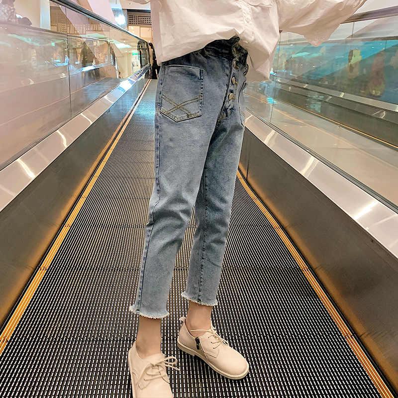 Pantalones Vaqueros Para Ninas Pantalones Vaqueros Informales Holgados Para Ninas Diseno De Moda Jeans Elegantes Para Ninas 2020 Pantalones Aliexpress