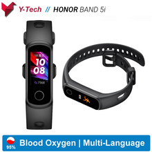 Huawei Honor Band 5i Smart Band Blood Oxygen Smart Watch Music Control Heart Rate Health Monitor New Watch Faces USB plug Charge