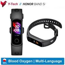 Huawei Honor Band 5i להקת חכם להקת דם חמצן חכם שעון מוסיקה בקרת קצב לב בריאות צג חדש שעון פרצופים USB תשלום התוספת