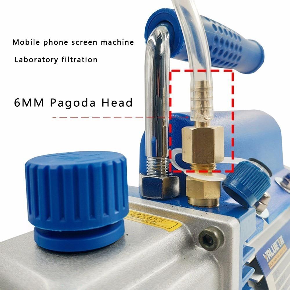2019 nouvelle pompe à vide d'étape simple de palette rotative de 1L Mini pour le séparateur d'écran de réparation de climatisation de voiture - 3
