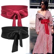 Aecibzo 9 Colors Suede Waist Belts Wide Corset Cinch Dress Belts
