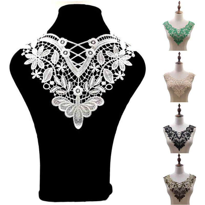 Lace Fabic Embroidered Applique Neckline Fabric Sewing Supplies Scrapbooking A