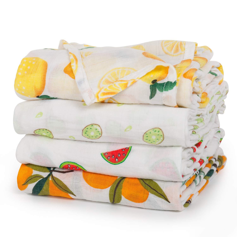 Baby Cotton Muslin Newborn Toddler Baby Blanket Stripped Blankets Bath Gauze Infant Sleepsack Swaddle Wrap Bedding Covers