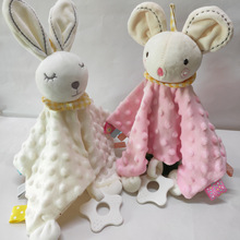 Baby Appease Towel Toys Plush Comfort Towel Soothe Appease Towels Lovely Rabbit Elephant Bear Newborn Comfort Bite Cloth Blanket