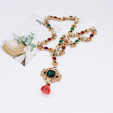 Baroque Crystal Necklace Turquoise Jewelry Dainty Western Red Women Jewellery Chunky Aesthetic Inital Diamond Chain