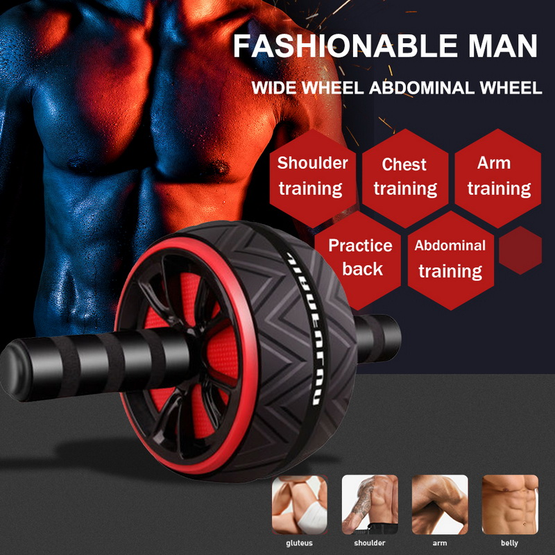 Abdominal Roller Exercise Wheel Fitness Equipment Mute Roller For Arms Back Belly Core Trainer Body Shape Training Supplies