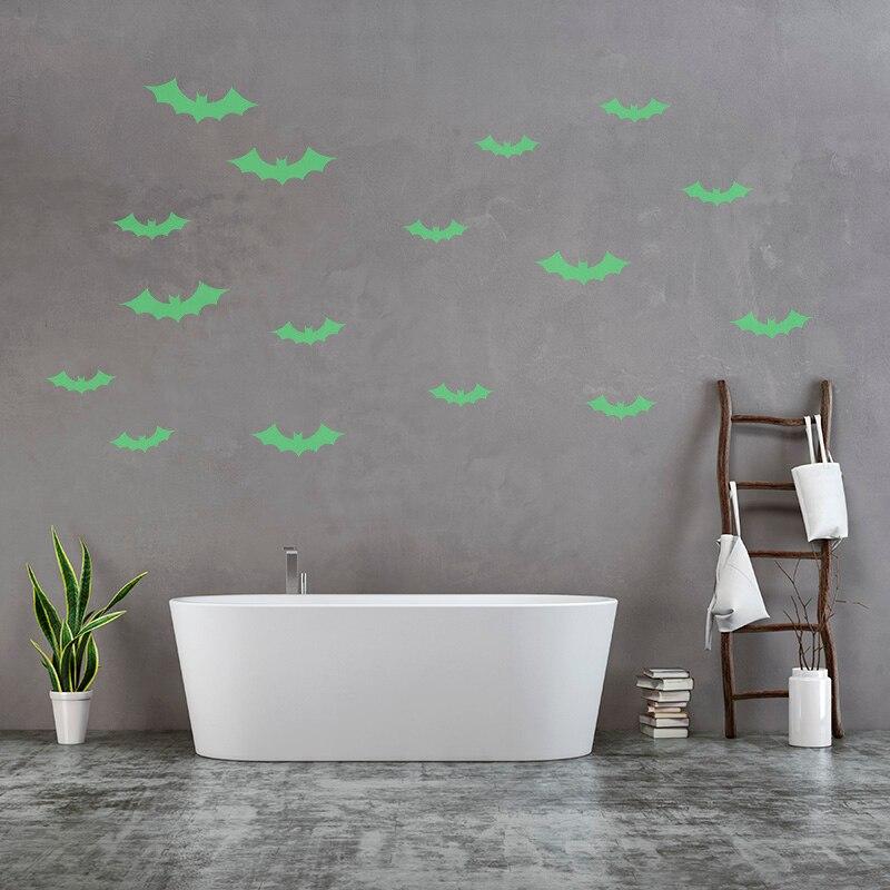 Наклейки на стену Хэллоуин один предмет светящаяся наклейка