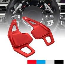 Alumínio do carro auto volante shift pá lâmina shifter extensão para bmw 3 4 5 6 series f10 f30 i8