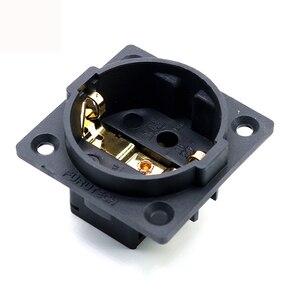 Image 4 - 1 pz Hifi Audio AMp rodio oro neutro FI E30 AC 250V 16A EU Euro Schuko 2 pin IEC ingresso spina di alimentazione presa telaio