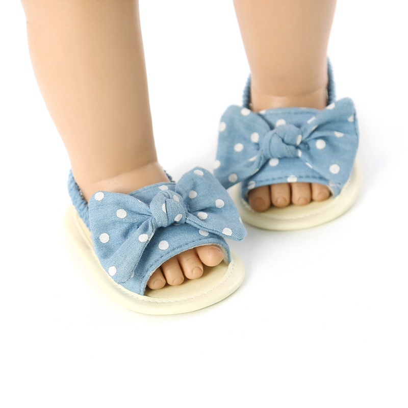 Breathable Baby Girls Bow Anti-Slip Summer Shoes Sandals Toddler Soft Soled First Walkers Shoes 2020