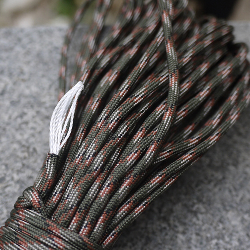 100ft Paracord 4mm 7 Strand Cores Paracord For Survival Parachute Cord Lanyard Climbing Rope For Hiking Camping 200 Colors