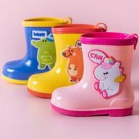 2021 neue Einhorn kinder Schuhe PVC Gummi Kinder Baby Cartoon Schuhe Wasser Schuhe Wasserdicht Regen Stiefel Kleinkind Mädchen Rain